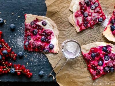 Süßer Gruß aus dem Elsass - herbstlicher Flammkuchen