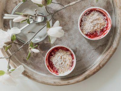 Erdbeer- Rhabarber Crumble